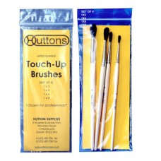 Huttons Unlacquered Touch Up Brushes Large (x4)