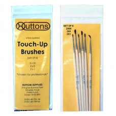 Huttons Unlacquered Touch Up Brushes Small (x6)